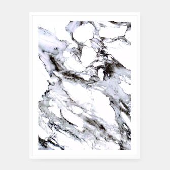 Miniaturka White Marble Framed poster, Live Heroes
