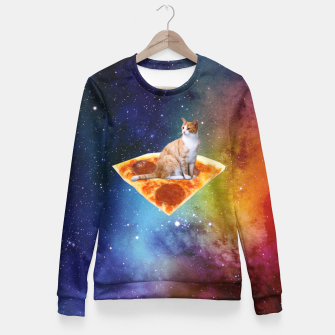Thumbnail image of Space Cat Fitted Waist Sweater, Live Heroes