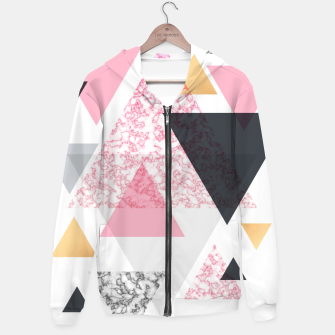 Thumbnail image of Multi Triangle - Rose Gold and Marble Hoodie, Live Heroes