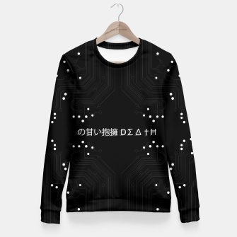 Thumbnail image of CIRCUIT OF DEATH Fitted Waist Sweater, Live Heroes
