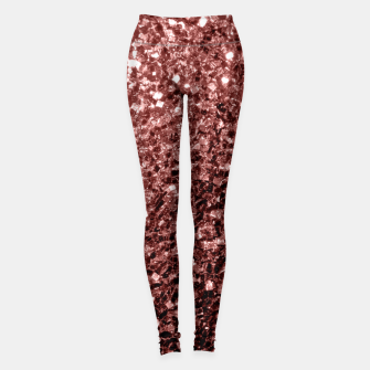 Thumbnail image of Beautiful Glam Marsala Brown Red Glitter sparkles Leggings, Live Heroes