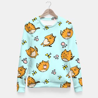 Thumbnail image of Kawaii Cats Fitted Waist Sweater, Live Heroes