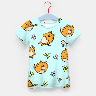 Thumbnail image of Kawaii Cats Kid's T-shirt, Live Heroes