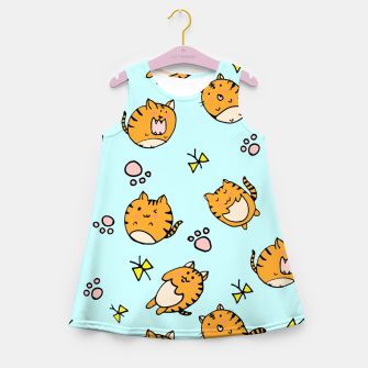 Thumbnail image of Kawaii Cats Girl's Summer Dress, Live Heroes