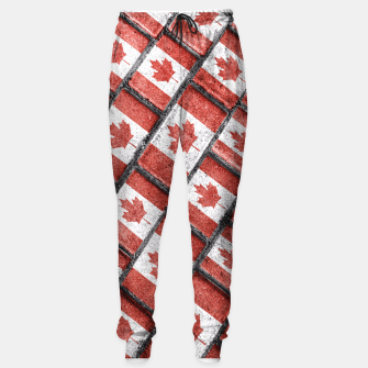 Thumbnail image of Canadian Flag Motif Pattern Sweatpants, Live Heroes