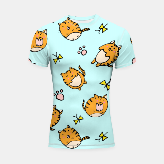 Thumbnail image of Kawaii Cats Shortsleeve Rashguard, Live Heroes