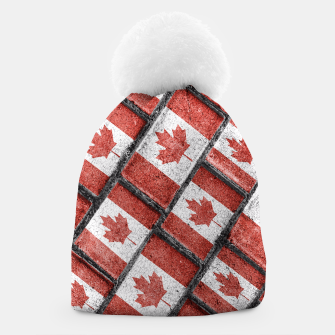 Thumbnail image of Canadian Flag Motif Pattern Beanie, Live Heroes