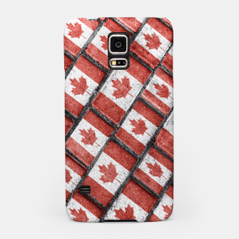 Thumbnail image of Canadian Flag Motif Pattern Samsung Case, Live Heroes