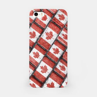 Thumbnail image of Canadian Flag Motif Pattern iPhone Case, Live Heroes
