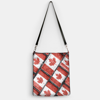 Thumbnail image of Canadian Flag Motif Pattern Handbag, Live Heroes