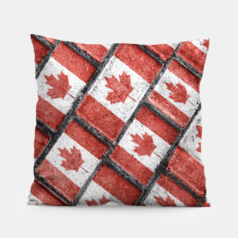Thumbnail image of Canadian Flag Motif Pattern Pillow, Live Heroes