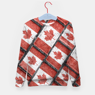 Thumbnail image of Canadian Flag Motif Pattern Kid's Sweater, Live Heroes