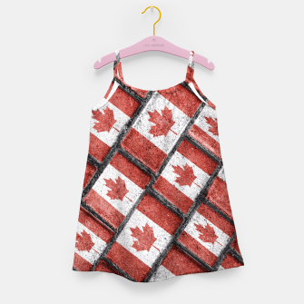 Thumbnail image of Canadian Flag Motif Pattern Girl's Dress, Live Heroes