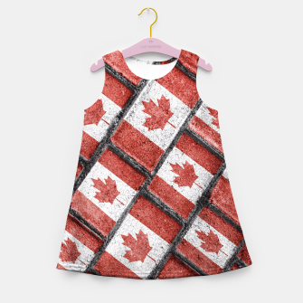 Thumbnail image of Canadian Flag Motif Pattern Girl's Summer Dress, Live Heroes