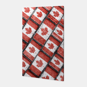 Thumbnail image of Canadian Flag Motif Pattern Canvas, Live Heroes
