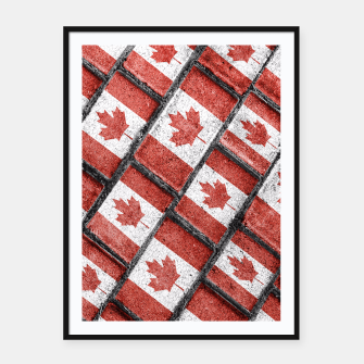 Thumbnail image of Canadian Flag Motif Pattern Framed poster, Live Heroes