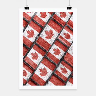 Thumbnail image of Canadian Flag Motif Pattern Poster, Live Heroes