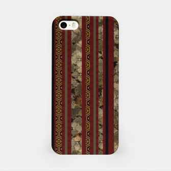 Miniaturka Japanese style gold and red stripe like Kimono iPhone Case, Live Heroes