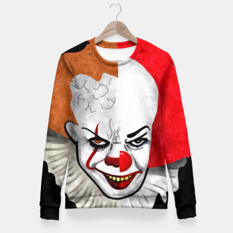 Thumbnail image of Pennywise the clown Fitted Waist Sweater, Live Heroes