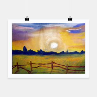 Thumbnail image of sunset Plakat, Live Heroes
