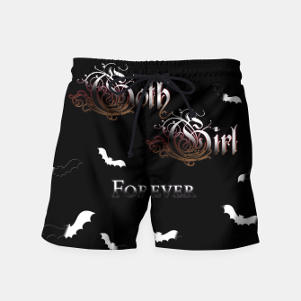 Thumbnail image of Goth Girl Forever Swim Shorts, Live Heroes