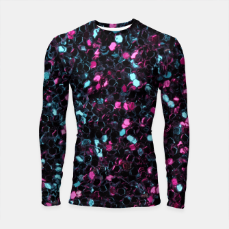 Thumbnail image of Sparkly colorful pink and blue mosaic Longsleeve Rashguard , Live Heroes