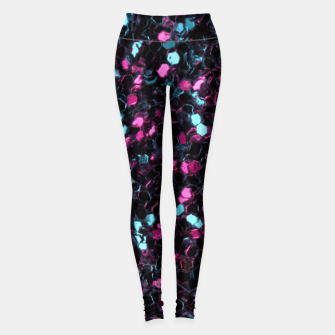 Thumbnail image of Sparkly colorful pink and blue mosaic Leggings, Live Heroes