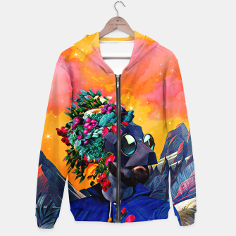 Crazy man in the mountains Hoodie thumbnail image