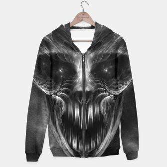 Fractal Gothic Skull Cotton zip up hoodie thumbnail image