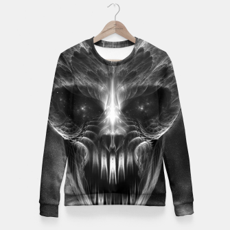 Thumbnail image of Fractal Gothic Skull Fitted Waist Sweater, Live Heroes