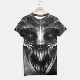 Thumbnail image of Fractal Gothic Skull T-shirt, Live Heroes