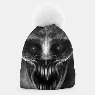 Thumbnail image of Fractal Gothic Skull Beanie, Live Heroes