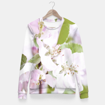 Apple Tree Blossoms Fitted Waist Sweater miniature