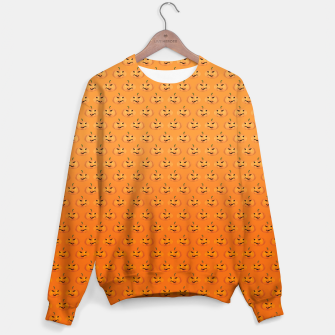 Halloween Pumpkin Pattern Sweater Bild der Miniatur