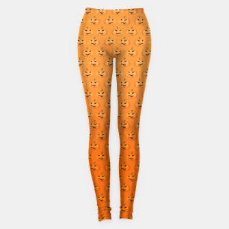 Halloween Pumpkin Pattern Leggings Bild der Miniatur