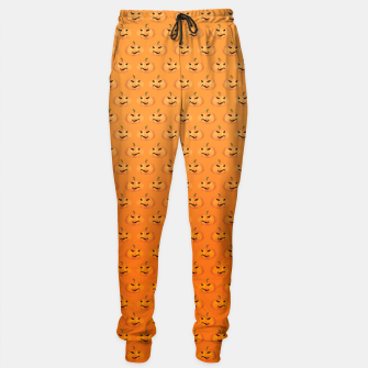 Halloween Pumpkin Pattern Sweatpants Bild der Miniatur