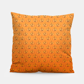 Halloween Pumpkin Pattern Pillow Bild der Miniatur