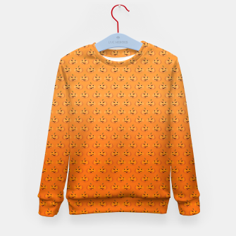 Miniatur Halloween Pumpkin Pattern Kid's Sweater, Live Heroes