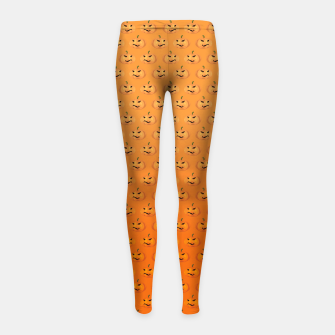Miniatur Halloween Pumpkin Pattern Girl's Leggings, Live Heroes