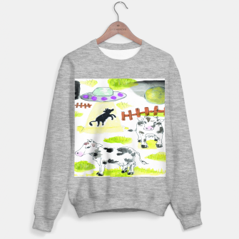 Thumbnail image of aliens and cows Sweater regular, Live Heroes