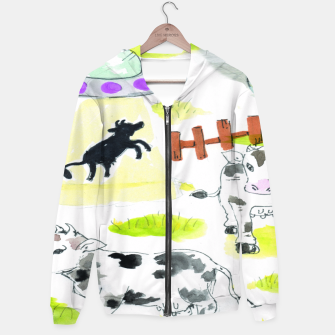 Thumbnail image of aliens and cows Hoodie, Live Heroes
