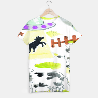 Thumbnail image of aliens and cows T-shirt, Live Heroes