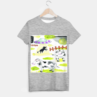 Thumbnail image of aliens and cows T-shirt regular, Live Heroes