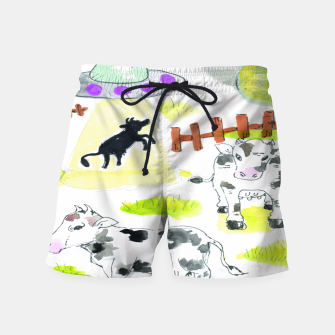 Thumbnail image of aliens and cows Swim Shorts, Live Heroes