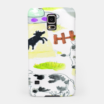 Thumbnail image of aliens and cows Samsung Case, Live Heroes
