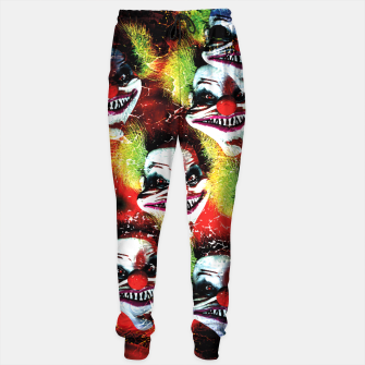 Miniatur Scary Halloween Horrorclown Pattern Sweatpants, Live Heroes