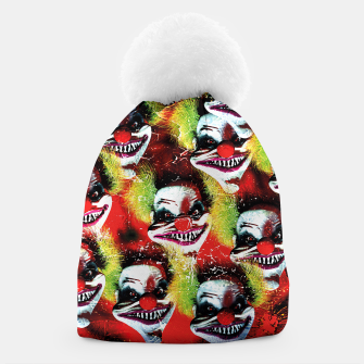 Miniatur Scary Halloween Horrorclown Pattern Beanie, Live Heroes