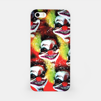 Scary Halloween Horrorclown Pattern iPhone Case Bild der Miniatur