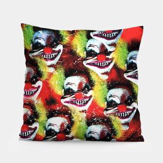 Scary Halloween Horrorclown Pattern Pillow Bild der Miniatur