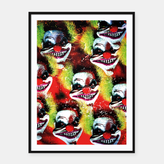 Miniatur Scary Halloween Horrorclown Pattern Framed poster, Live Heroes